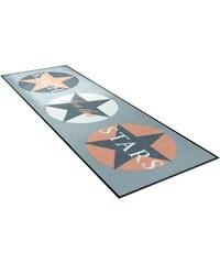 Läufer wash+dry Reach Stars Höhe 7 mm gedruckt WASH+DRY BY KLEEN-TEX grün 17 (B/L: 60x180 cm)