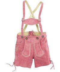 MARJO Trachten-Lederhose Kinder mit Stickerei rosa 74,86,98,104,116,128,140,152,164