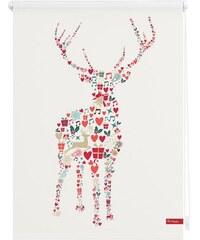 LICHTBLICK Seitenzugrollo Lichtblick Klemmfix Dekor Rentier Weihnachten Lichtschutz Fixmaß ohne Bohren bunt 7 (H/B: 150/120 cm)