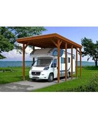 SKANHOLZ Einzelcarport »Caravan-Friesland«, BxT: 397x708 cm, braun