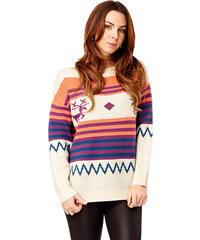 Lesara Pull coloré avec rennes en motif