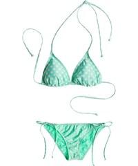 Roxy Bikini bikini - Tiki Tri/Tie Side Optic Nature Big Dot Cabbage (GEA7) Roxy