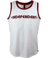 Independent Tílka / Trička bez rukávů tílko - Bar Cross Vest White (WHITE) Independent