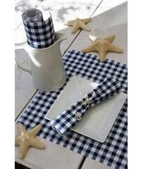 MY drap - Role bavlněných ubrousků na oběd, modrá kostka 20x20, 25ks (SA21V-401-0)