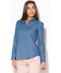 KATRUS Dámská košile K171 dark blue