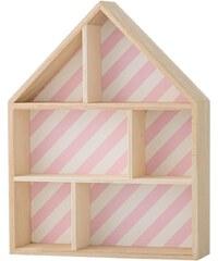 Bloomingville Polička ve tvaru domečku Pink