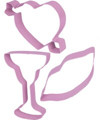 MISS ETOILE COOKIE CUTTERS, 3PCS. ROSE HEART