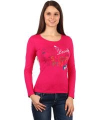 TopMode Dámské triko s potiskem růžová