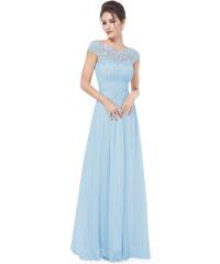 Ever Pretty plesové šaty s krajkou světle modré 9993 0118ce53c9d