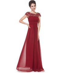 Ever Pretty plesové šaty s krajkou bordo 9993 c67b860cd2