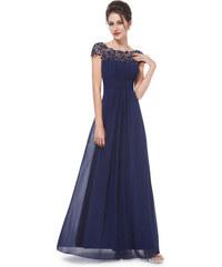 Ever Pretty plesové šaty s krajkou tmavě modré 9993 a3ae5cc3cd