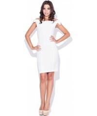 KATRUS Dámské šaty K028 ecru