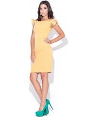 KATRUS Dámské šaty K028 yellow