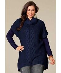 Dámský svetr nadměrná velikost, svetry pro plnoštíhlé SHEEGO 48/50 námořnická modř