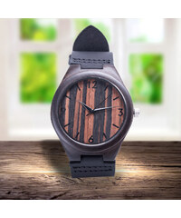 Lesara Armbanduhr aus Ebenholz
