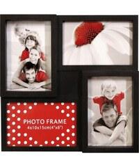 Sada čtyř spojených rámečků Photo Frame Barva Černá