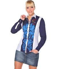 M.Conte Dámská košile 1211-A0181_white-darkblue