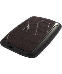 Pouzdro Tru Virtu Card Case Leather - hnědá krokodýlí kůže