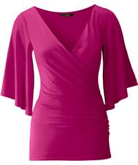 BODYFLIRT boutique T-shirt violet manches mi-longues femme - bonprix