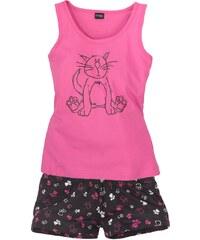 VIVANCE Tanktop und Shorts mit süem Katzenprint