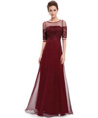 Elegantní Ever Pretty plesové šaty bordo 8459 3396e4f636