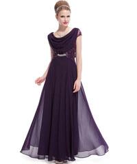Dámské elegantní Ever Pretty plesové šaty fialové 9989 64781acf73