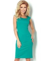 S-a-F Dámské společenské a casual šaty luxusní SHIM.cz 5313 vypasované s krátkým rukávem krátké zelené