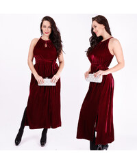 Lesara Maxi-Kleid im Crash-Samt-Design - 48