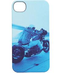 NIXON Etui blau iPhone 4 Mitt Print