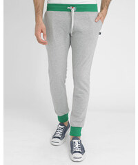 SWEET PANTS Grau-grüne Slim-Jogginghose