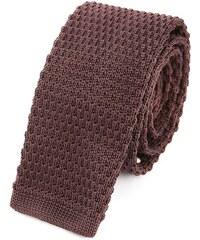 M.STUDIO Braun gestrickte Krawatte Louis
