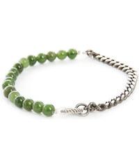 GILBERT GILBERT Silberarmband mit grünen Jade-Steinen HEN 20