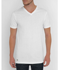 LACOSTE UNDERWEAR Dreierpack T-Shirts mit V-Ausschnitt aus weißer Pimabaumwolle