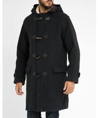 ARMOR LUX Duffle Coat Wolle Kaschmir Oversize mit Reißverschluss und Knöpfen Anthrazitgrau