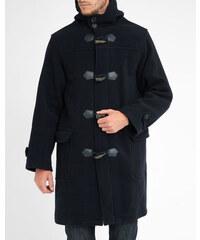 ARMOR LUX Duffle Coat Wolle Kaschmir Oversize mit Reißverschluss und Knöpfen Marineblau