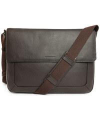 LE TANNEUR Messenger Bag aus braunem Narbenleder Bruno