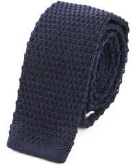 M.STUDIO Gestrickte Krawatte Louis in blau