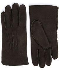 AGNELLE Mokkabraune Handschuhe aus Wendeleder Alexis