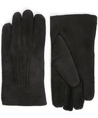 AGNELLE Schwarze Handschuhe aus Wendeleder Alexis