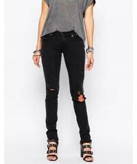Diesel - Skinzee - Jean super skinny taille basse avec effet usé - Bleu