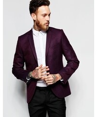Heart & Dagger - Tweed-Blazer in sehr enger Passform - Rot