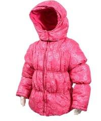 Bugga Dívčí zimní bunda Puffy s podšívkou - růžová