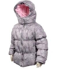 Bugga Dívčí zimní bunda Puffy s podšívkou - šedá