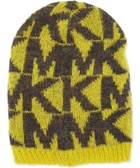 MICHAEL KORS čepice Oversize Logo Knit Hat-žlutá