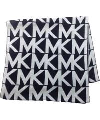 MICHAEL KORS šála Jumbo Logo Infinity Scarf-černobílá