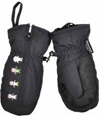 Bugga Dívčí palčáky s postavičkami - černé