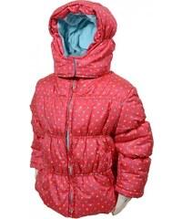 Bugga Dívčí vpuntíkovaná bunda Puffy - růžová
