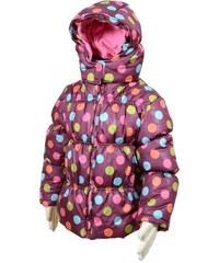 Bugga Dívčí puntíkovaná bunda Puffy - fialová