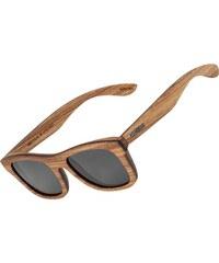 Wood Fellas Stachus Sonnenbrille zebrano/grey