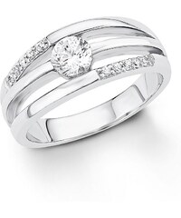 S.OLIVER RED LABEL s.Oliver Silberring: Ring mit Zirkonia, »SO1319/1-4«